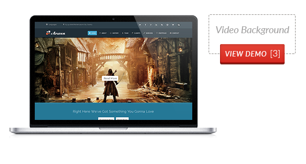 Arwen - One Page and Multipage Parallax WordPress Theme
